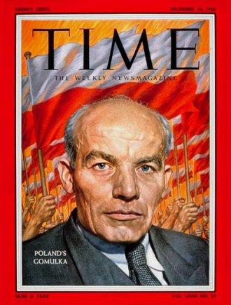 Gomułka na okładce magazynu Time z grudnia 1956