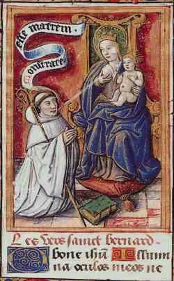 Św. Bernard i Maryja