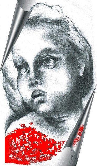 Cherubin — grafika wykonana przez autorkę tekstu