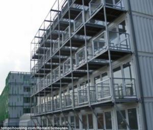 Blok kontenerowy w Amsterdamie