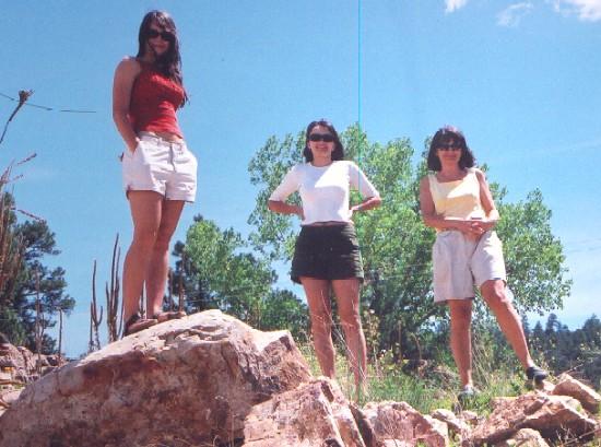 Żona Barbara i córki, Nowy Meksyk