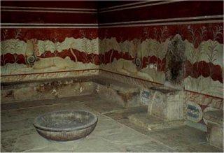 Tron wielkiej kapłanki w pałacu w Knossos