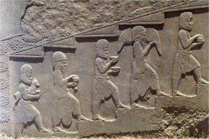 Relief przedstawiający niosących ofiary, Persepolis