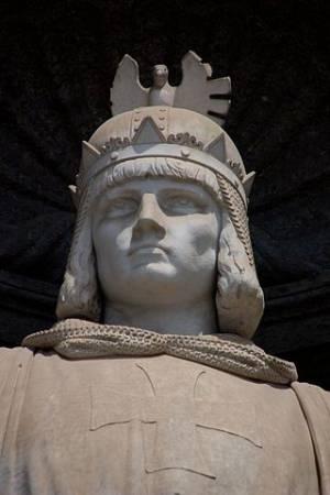 Pomnik Fryderyk II w Neapolu (fot. Neapolis 93, opublikowano na licencji Creative Commons Attribution-Share Alike 3.0 Unported)