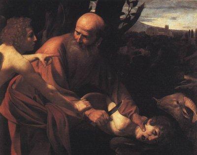 Poświęcenie Izaaka przez Abrahama — Michelangelo Merisi da Caravaggio, 1590-1610