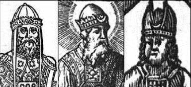 Trzy średniowieczne przedstawienia Arcykapłana z czasów Wyjścia. Za : www.dhushara.com/book/orsin/origsin2.htm