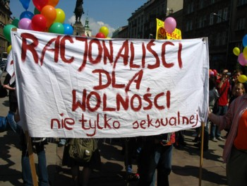 Podczas Marszu Równości w Krakowie, fot. Mikołaj Chojnacki