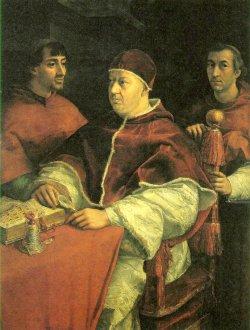 Leon X i dwaj kardynałowie (nepoci), Rafael
