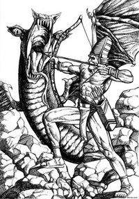 Marduk walczy z Tiamat