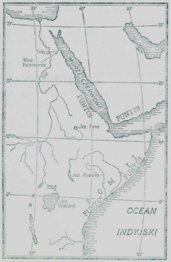 Mapa zumiejscowieniem krainy Punt
