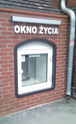 Okno życia na ul. Rydygiera We Wrocławiu, fot. MA