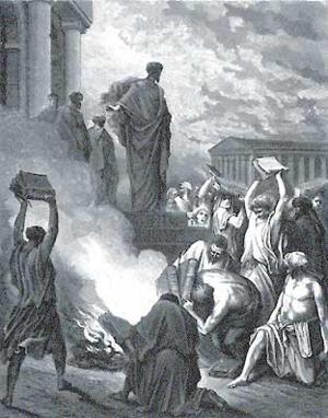 Św. Paweł ipalenie ksiąg