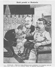 """Pakt widziany oczami warszawskiego karykaturzysty """"Mucha"""", 8 września 1939"""