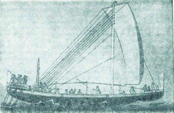 Rekonstrukcja statku ze Starego Państwa, z Egiptu