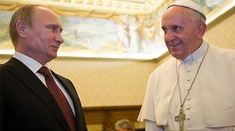 Władimir Putin i Franciszek I są wymieniani jako tegoroczni kandydaci do Pokojowej Nagrody Nobla w związku z zaangażowaniem na rzecz zażegnania wojny w Syrii. Zdjęcie: cathnewsusa.com