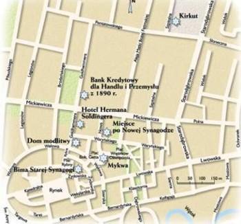 Plan miasta Tarnowa i judaików