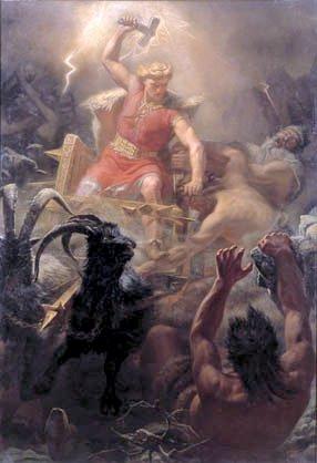 Mĺrten Eskil Winge, Thor walczący z gigantami.