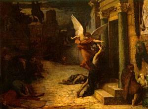 Jules Elie Delauney — Zaraza w Rzymie